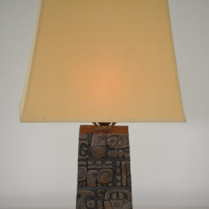 1950's Table light carved from wood