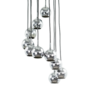 Chrome Pendant light 10 Spheres