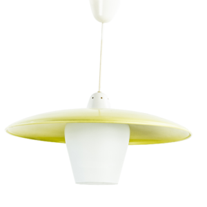 60s Yellow pendant light
