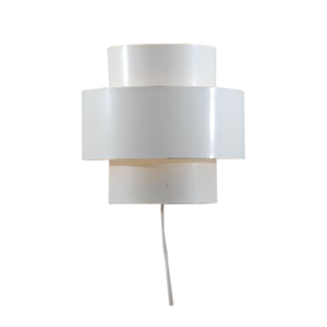 White metal wall light