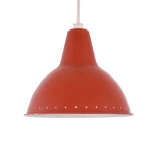 Small red pendant light
