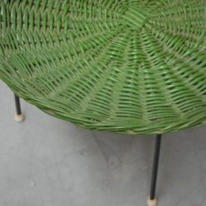 Green magazine basket