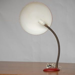 Red 60's desk light