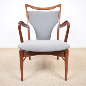 Grey Danish 1960s set with new upholstery