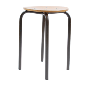 3x Marko kwartet F6 with black base 46cm stool