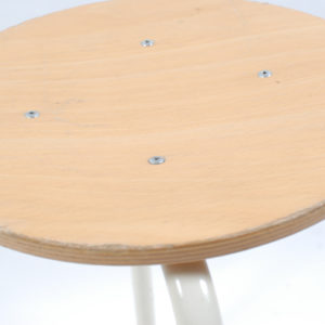 4x Marko kwartet F6 stool with white base 46cm SOLD