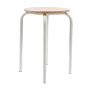 4x Marko kwartet F6 stool with white base 46cm