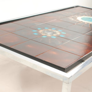 Rectangular tiled coffee table by Juliette Belarti