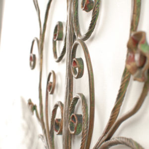 5x Metal flower wall lights 60's