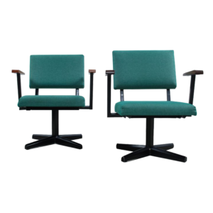 34x Green 60's Easy chairs