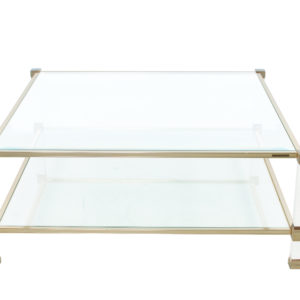 Glass coffee table by Pierre Vandel