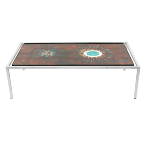 Rectangular tiled coffee table by Juliette Belarti SOLD
