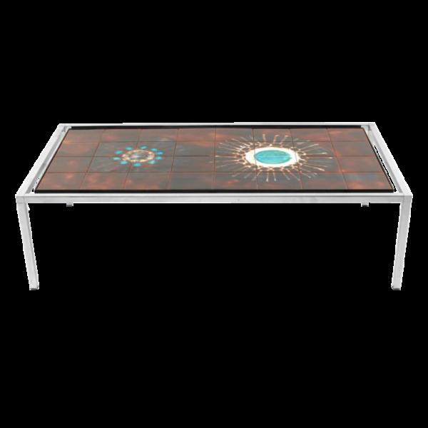 Rectangular tiled coffee table by Juliette Belarti SOLD