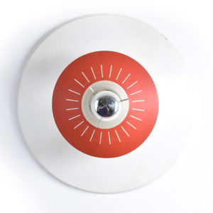 5x Space age ceiling light by Louis Kalff