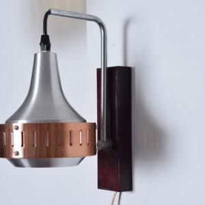 Bronze-Chrome wall light for Fog & Mørup