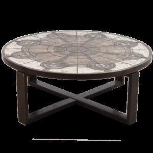 Circular tile table by Ox-Art