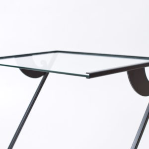 Glass side tables by Maroeska Metz