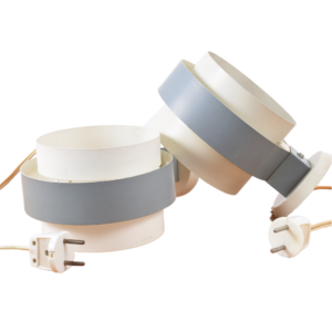 White-grey wall lights by Philips (set)