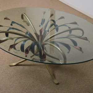 Hollywood Regency flower coffee table SOLD