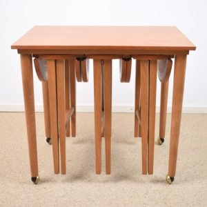 Nesting tables by Poul Hundevad  SOLD