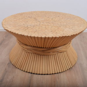 American wheat sheaf coffee table by McGuire  ON HOLD