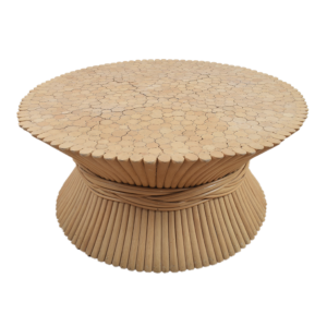 American wheat sheaf coffee table by McGuire  SOLD