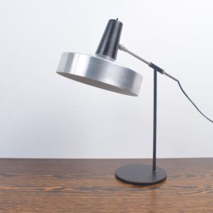Black and Chrome desk light by H. Busquet SOLD