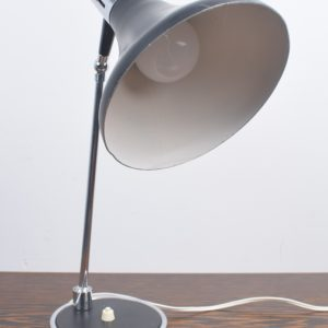 Black and chrome desk light