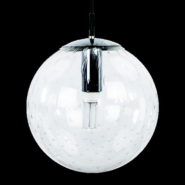 4x Glass globe pendant light by Raak Amsterdam