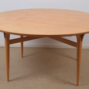 Burlwood top coffee table by Bruno Mathsson