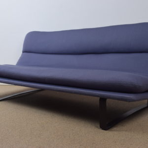 Model C683 Blue 3 seater sofa by Kho Liang Ie  SOLD