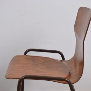 100x Brown industrial school chair by Eromes