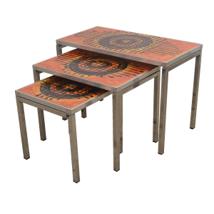 Set of three ceramic nesting tables