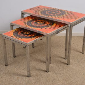 Set of three ceramic nesting tables  ON HOLD