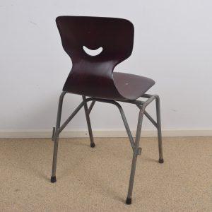 20x Industrial school chair by Galvanitas
