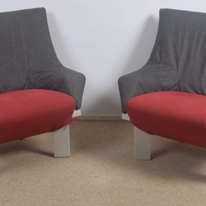 2x Cassina easy chairs  70's