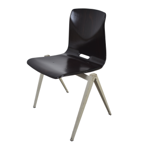 10x Model S22 industrial chair by Galvanitas (Black – Grey)