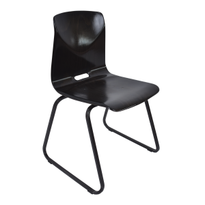 6x Model S23 industrial chair by Galvanitas (Dark brown – Black)