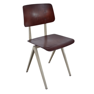 10x Model S16 industrial chair by Galvanitas (Dark brown- Grey)