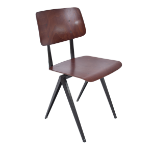 6x Model S16 industrial chair by Galvanitas (Cherry - black)