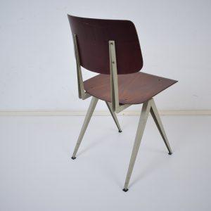 10x Model S16 industrial chair by Galvanitas (Brown- Grey)