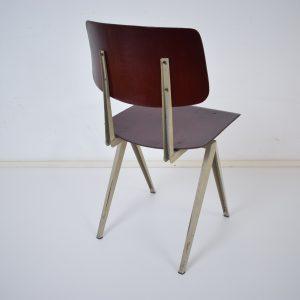 10x Model S16 industrial chair by Galvanitas (Dark brown- Grey)