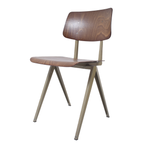 6x Model S16 industrial chair by Galvanitas (Light brown - Beige grey)