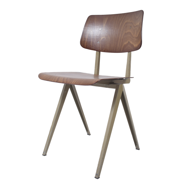 12x Model S16 industrial chair by Galvanitas (Light brown - Beige grey)