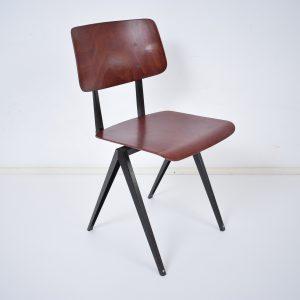 Model S16 industrial chair by Galvanitas (Cherry - black)