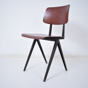 6x Model S16 industrial chair by Galvanitas (Cherry - black)