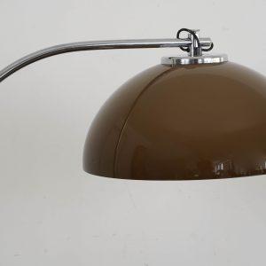 Mid-Century Chrome Arc Floor light (Brown)