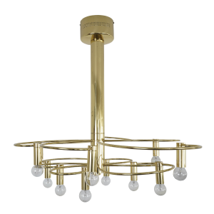 Gold plated ceiling light by Gaetano Sciolari