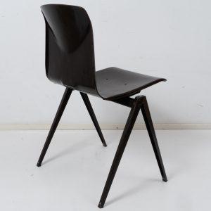 12x Model S22 industrial chair with handle by Galvanitas (Dark brown)