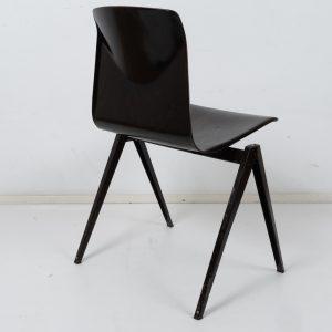 30x Model S22 industrial chair by Galvanitas (Dark brown)